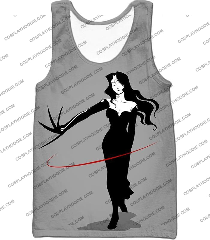 Fullmetal Alchemist Deadly Homunculi Lust Cool Anime Grey T-Shirt Fa032 Tank Top / Us Xxs (Asian Xs)