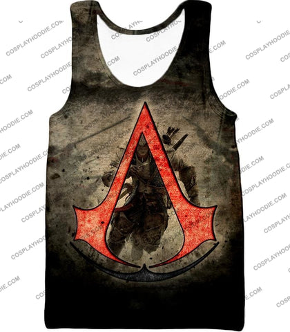 Image of Amazing Assassins Creed Iii Logo Promo Awesome Graphic T-Shirt Ac032 Tank Top / Us Xxs (Asian Xs)