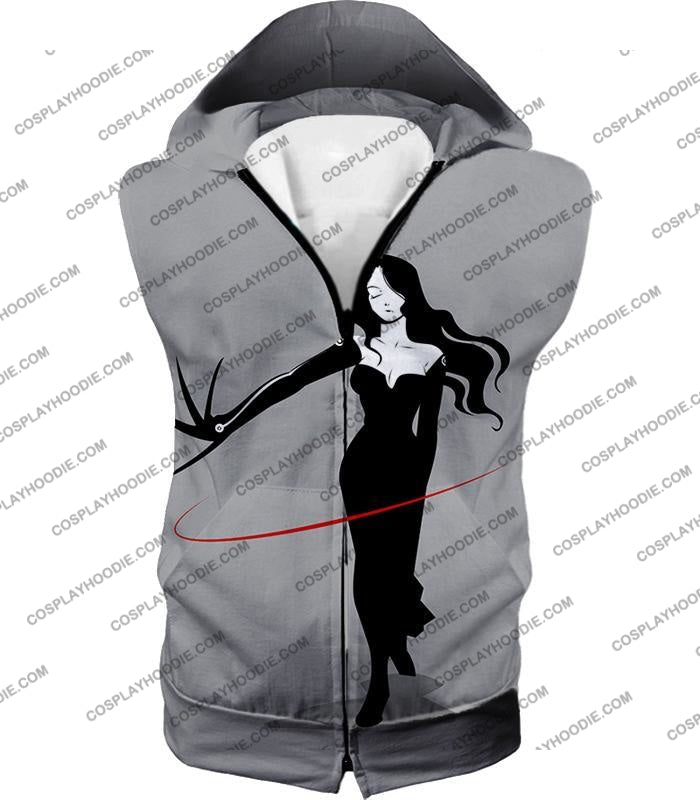 Fullmetal Alchemist Deadly Homunculi Lust Cool Anime Grey T-Shirt Fa032 Hooded Tank Top / Us Xxs
