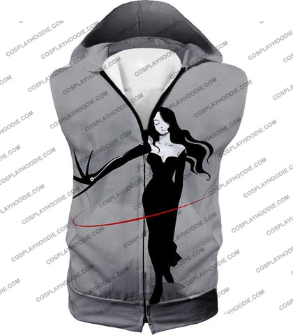 Image of Fullmetal Alchemist Deadly Homunculi Lust Cool Anime Grey T-Shirt Fa032 Hooded Tank Top / Us Xxs