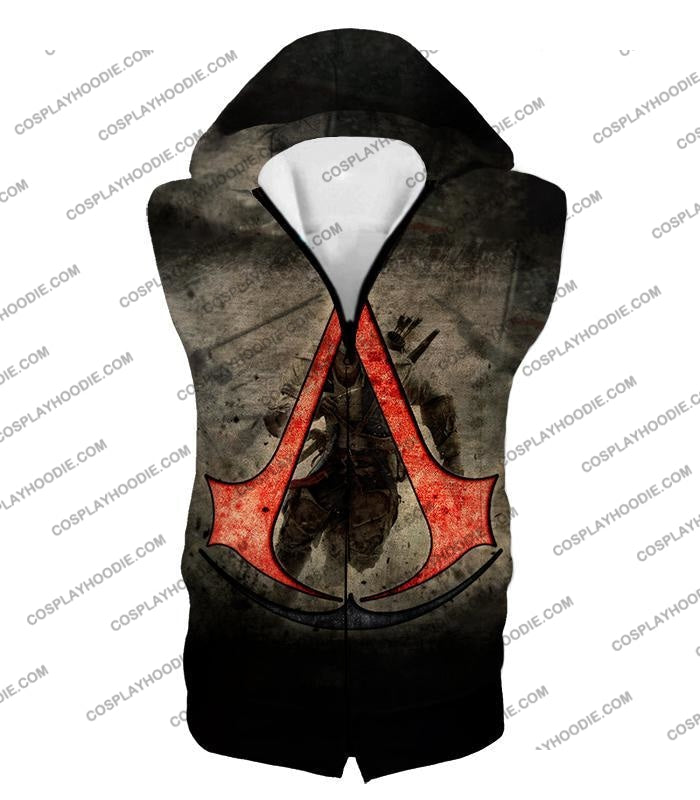 Amazing Assassins Creed Iii Logo Promo Awesome Graphic T-Shirt Ac032 Hooded Tank Top / Us Xxs (Asian