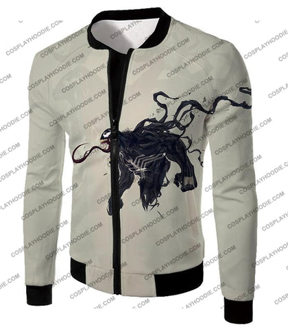 Alien Life Venom White Printed T-Shirt Ve032 Jacket / Us Xxs (Asian Xs)