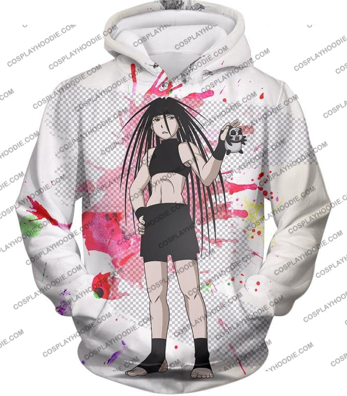 Fullmetal Alchemist Cool Long Haired Homunculi Envy Amazing Anime Promo White T-Shirt Fa033 Hoodie /