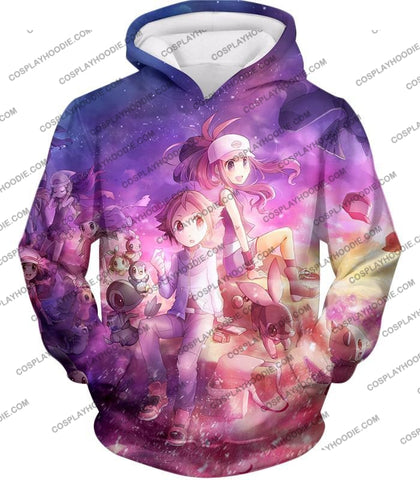 Image of Pokemon Black And White Series Trainers Hilbert Hilda Amazing T-Shirt Pkm033 Hoodie / Us Xxs (Asian