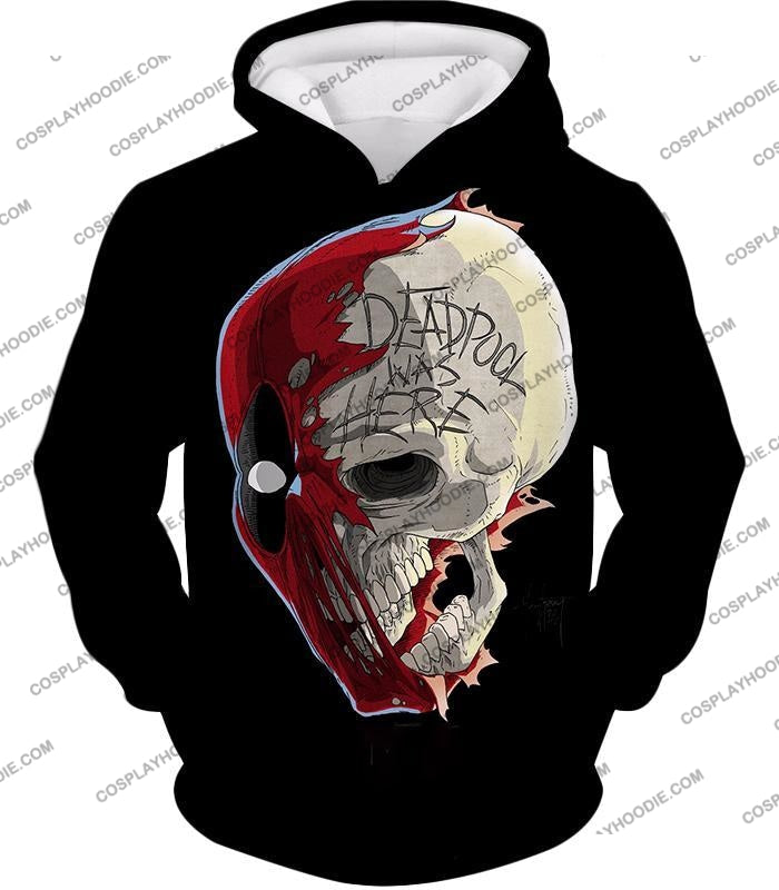 Awesome Deadpool Skull Promo Cool Black T-Shirt Dp033 Hoodie / Us Xxs (Asian Xs)