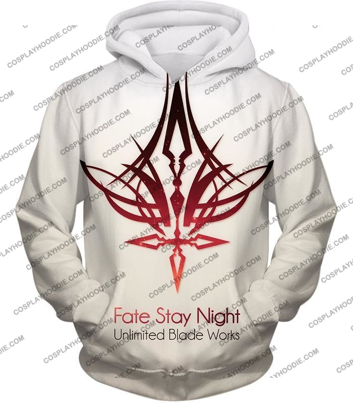 Fate Stay Night Unlimited Blade Works White Promo T-Shirt Fsn033 Hoodie / Us Xxs (Asian Xs)