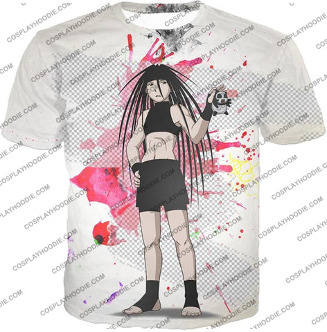 Image of Fullmetal Alchemist Cool Long Haired Homunculi Envy Amazing Anime Promo White T-Shirt Fa033 / Us Xxs