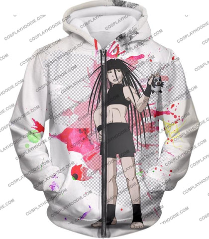Image of Fullmetal Alchemist Cool Long Haired Homunculi Envy Amazing Anime Promo White T-Shirt Fa033 Zip Up
