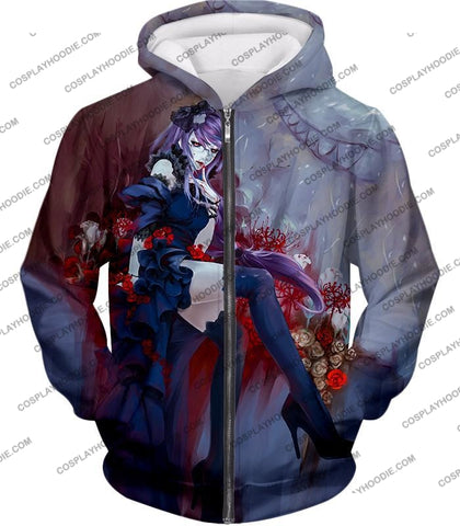 Image of Tokyo Ghoul Beautiful And Dangerous Rize Kamishiro Amazing Anime Art Printed T-Shirt Tg083 Zip Up