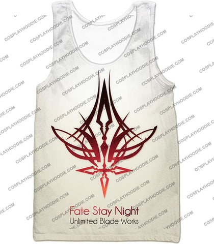 Image of Fate Stay Night Unlimited Blade Works White Promo T-Shirt Fsn033 Tank Top / Us Xxs (Asian Xs)
