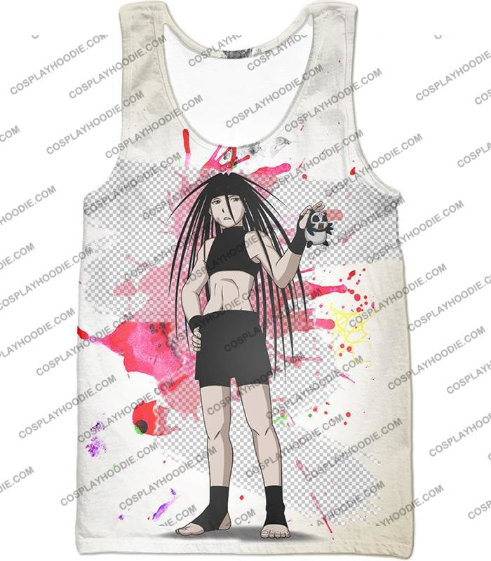 Fullmetal Alchemist Cool Long Haired Homunculi Envy Amazing Anime Promo White T-Shirt Fa033 Tank Top