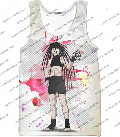 Image of Fullmetal Alchemist Cool Long Haired Homunculi Envy Amazing Anime Promo White T-Shirt Fa033 Tank Top