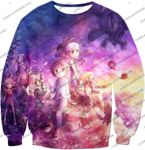Image of Pokemon Black And White Series Trainers Hilbert Hilda Amazing T-Shirt Pkm033 Sweatshirt / Us Xxs