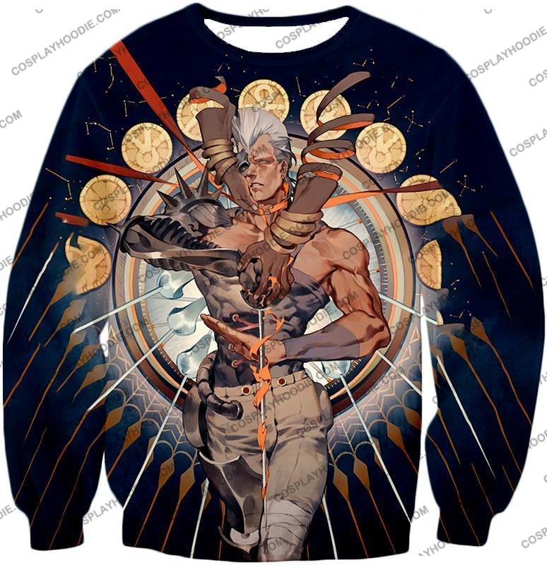 Jojos Stardust Crusaders C Jean Pierre Action Stand Graphic T-Shirt Jo033 Sweatshirt / Us Xxs (Asian