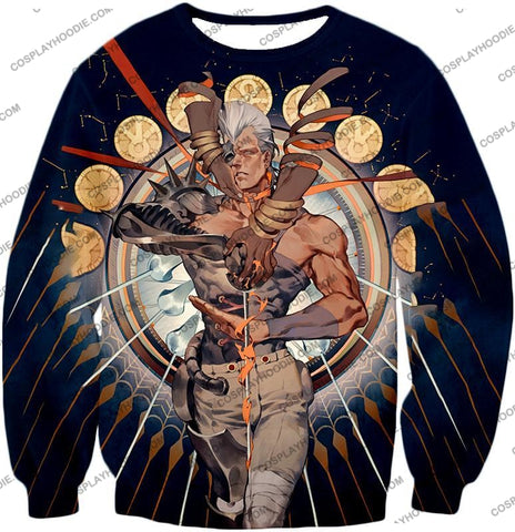 Image of Jojos Stardust Crusaders C Jean Pierre Action Stand Graphic T-Shirt Jo033 Sweatshirt / Us Xxs (Asian