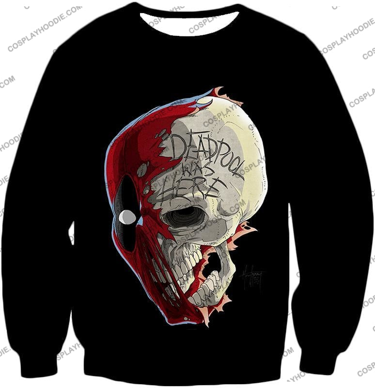 Awesome Deadpool Skull Promo Cool Black T-Shirt Dp033 Sweatshirt / Us Xxs (Asian Xs)