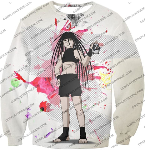 Image of Fullmetal Alchemist Cool Long Haired Homunculi Envy Amazing Anime Promo White T-Shirt Fa033