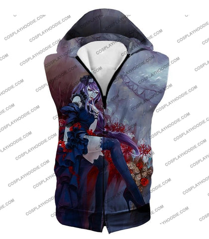 Image of Tokyo Ghoul Beautiful And Dangerous Rize Kamishiro Amazing Anime Art Printed T-Shirt Tg083 Hooded