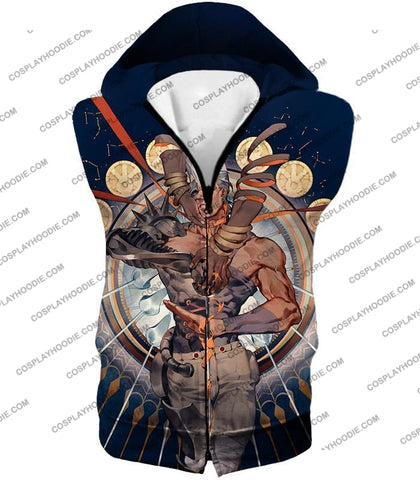 Image of Jojos Stardust Crusaders C Jean Pierre Action Stand Graphic T-Shirt Jo033 Hooded Tank Top / Us Xxs