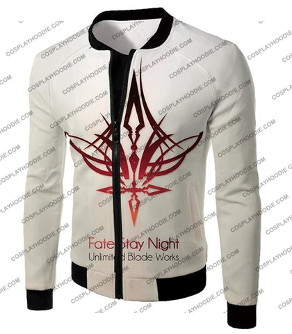 Image of Fate Stay Night Unlimited Blade Works White Promo T-Shirt Fsn033 Jacket / Us Xxs (Asian Xs)
