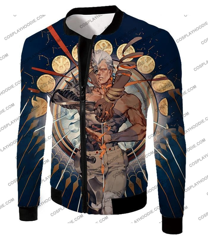 Jojos Stardust Crusaders C Jean Pierre Action Stand Graphic T-Shirt Jo033 Jacket / Us Xxs (Asian Xs)