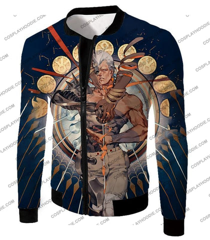 Image of Jojos Stardust Crusaders C Jean Pierre Action Stand Graphic T-Shirt Jo033 Jacket / Us Xxs (Asian Xs)