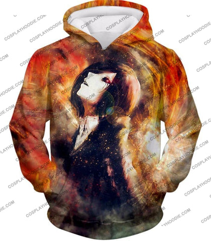 Image of Tokyo Ghoul Super Cool Fan Art Touka Kirishima Awesome Anime Graphic T-Shirt Tg084 Hoodie / Us Xxs