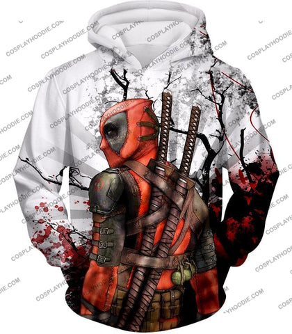 Image of Mutant Anti-Hero Deadpool Awesome White T-Shirt Dp034 Hoodie / Us Xxs (Asian Xs)