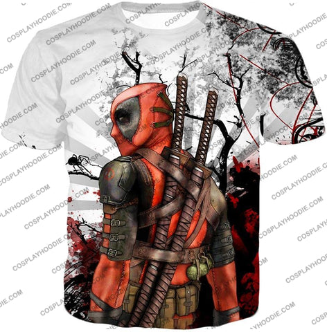 Image of Mutant Anti-Hero Deadpool Awesome White T-Shirt Dp034 / Us Xxs (Asian Xs)
