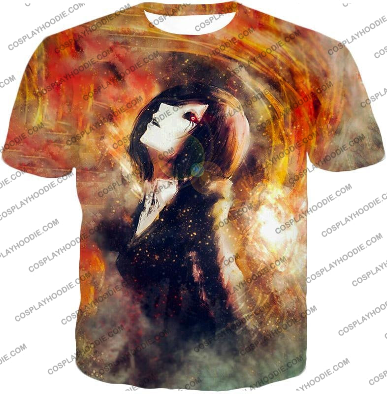 Tokyo Ghoul Super Cool Fan Art Touka Kirishima Awesome Anime Graphic T-Shirt Tg084 / Us Xxs (Asian
