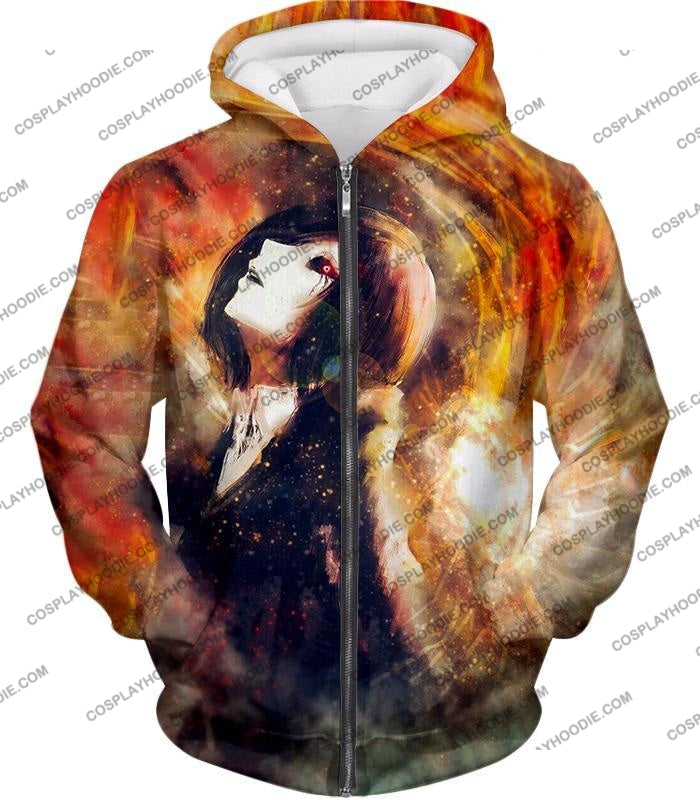 Tokyo Ghoul Super Cool Fan Art Touka Kirishima Awesome Anime Graphic T-Shirt Tg084 Zip Up Hoodie /