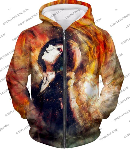 Image of Tokyo Ghoul Super Cool Fan Art Touka Kirishima Awesome Anime Graphic T-Shirt Tg084 Zip Up Hoodie /