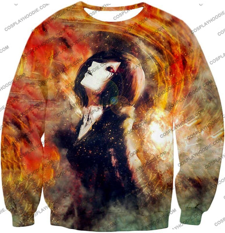 Image of Tokyo Ghoul Super Cool Fan Art Touka Kirishima Awesome Anime Graphic T-Shirt Tg084 Sweatshirt / Us