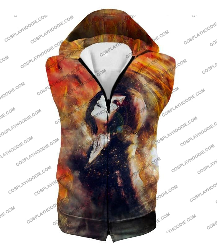 Tokyo Ghoul Super Cool Fan Art Touka Kirishima Awesome Anime Graphic T-Shirt Tg084 Hooded Tank Top /