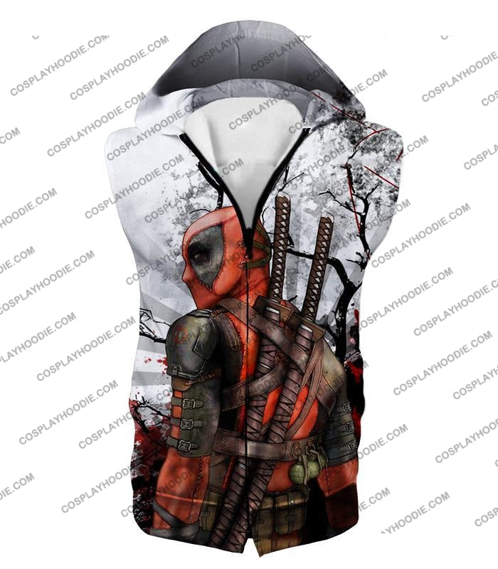 Mutant Anti-Hero Deadpool Awesome White T-Shirt Dp034 Hooded Tank Top / Us Xxs (Asian Xs)