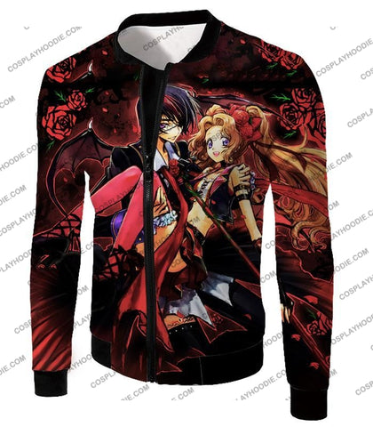 Image of Code Geass Super Cute Siblings Lelouch X Nunnaly Cool Anime Promo T-Shirt Cg034 Jacket / Us Xxs
