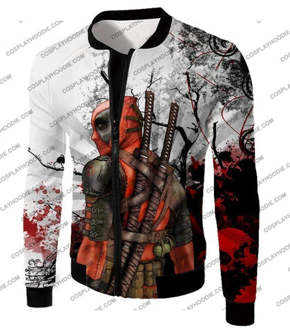 Image of Mutant Anti-Hero Deadpool Awesome White T-Shirt Dp034 Jacket / Us Xxs (Asian Xs)