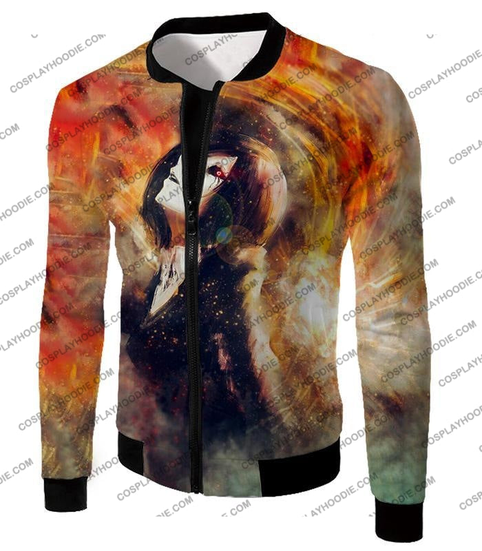 Tokyo Ghoul Super Cool Fan Art Touka Kirishima Awesome Anime Graphic T-Shirt Tg084 Jacket / Us Xxs
