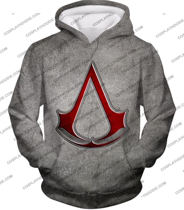 Cool Assassins Creed Symbol Awesome Promo Grey T-Shirt Ac035 Hoodie / Us Xxs (Asian Xs)