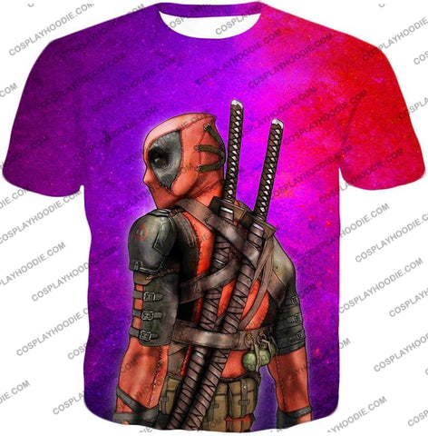 Image of Marvels X-Force Mutant Deadpool Psychedelic Print T-Shirt Dp035 / Us Xxs (Asian Xs)