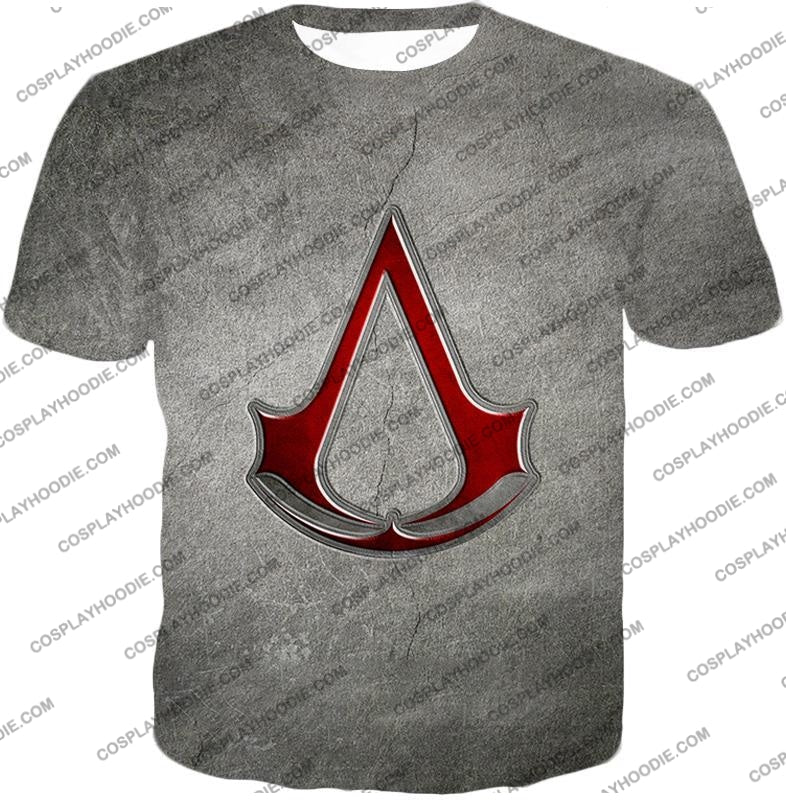 Cool Assassins Creed Symbol Awesome Promo Grey T-Shirt Ac035 / Us Xxs (Asian Xs)
