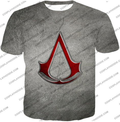Image of Cool Assassins Creed Symbol Awesome Promo Grey T-Shirt Ac035 / Us Xxs (Asian Xs)