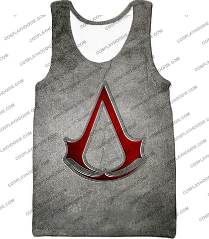 Image of Cool Assassins Creed Symbol Awesome Promo Grey T-Shirt Ac035 Tank Top / Us Xxs (Asian Xs)
