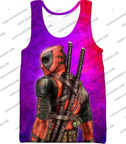 Image of Marvels X-Force Mutant Deadpool Psychedelic Print T-Shirt Dp035 Tank Top / Us Xxs (Asian Xs)