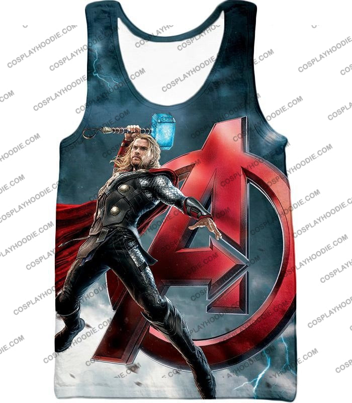 Action Hero Thor Avengers Promo Cool Graphic T-Shirt Thor035 Tank Top / Us Xxs (Asian Xs)