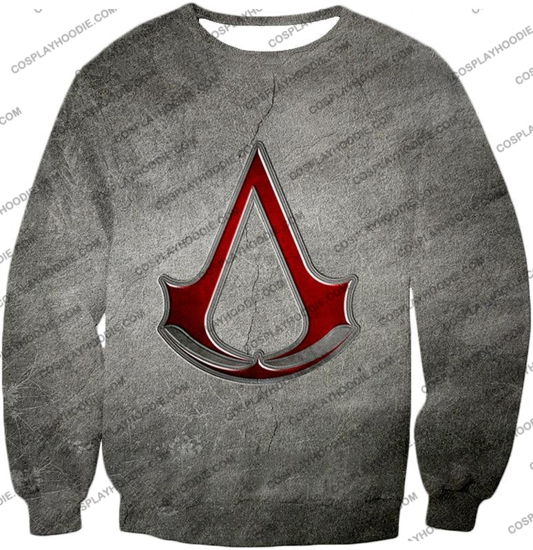 Cool Assassins Creed Symbol Awesome Promo Grey T-Shirt Ac035 Sweatshirt / Us Xxs (Asian Xs)