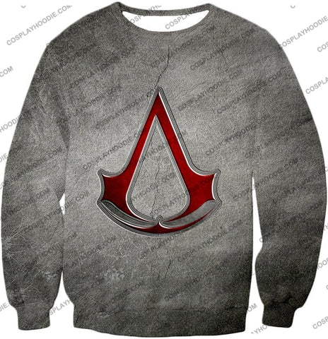Image of Cool Assassins Creed Symbol Awesome Promo Grey T-Shirt Ac035 Sweatshirt / Us Xxs (Asian Xs)