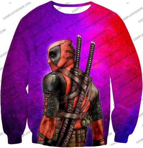 Image of Marvels X-Force Mutant Deadpool Psychedelic Print T-Shirt Dp035 Sweatshirt / Us Xxs (Asian Xs)