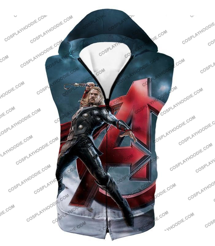 Action Hero Thor Avengers Promo Cool Graphic T-Shirt Thor035 Hooded Tank Top / Us Xxs (Asian Xs)