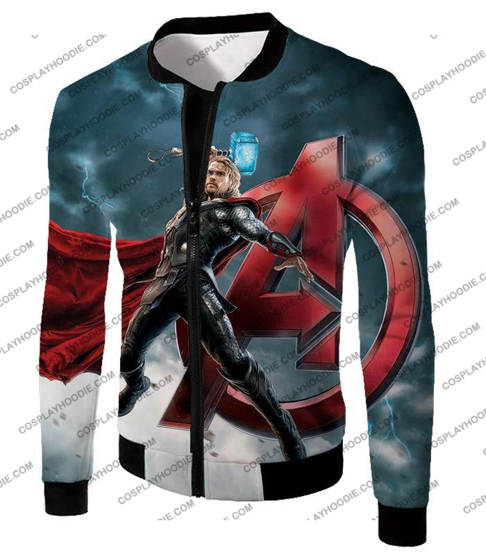 Action Hero Thor Avengers Promo Cool Graphic T-Shirt Thor035 Jacket / Us Xxs (Asian Xs)